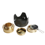 Discount Oh Outdoor Camping Picnic Cookware Alcohol Burner Heater Spirit Stand Stove Black Gold