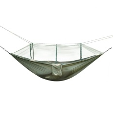 Camping Hammock With Mesh Cover Outdoor Mosquito Net Parachute Hammock Camping Hanging Sleeping Bed Swing Camp Sleeping Gear Camping & Hiking