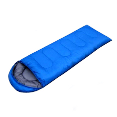Sale Outdoor Camping Winter Mummy Shaped Sleeping Bag Cotton Blue Intl