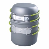 Discount Outdoor Cooking Bowl Set Picnic Camping Backpacking Pot Pan Cookware Grey Intl China