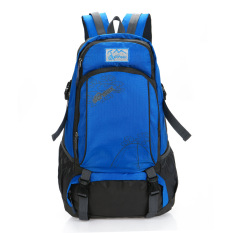 Price Comparisons Of Outdoor Double Shoulder Travel Backpack Casual Bag Pack Camping Hiking Water Resistant Nylon Blue Intl
