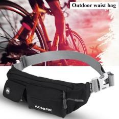 Outdoor Fashionable Waterproof Nylon Adjustable Belt Waist Pouch Bag (balck) - Intl By Highfly.