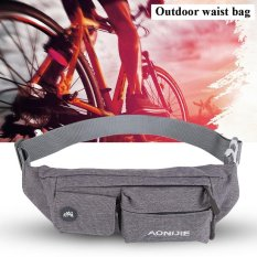 Outdoor Fashionable Waterproof Nylon Adjustable Belt Waist Pouch Bag (grey) - Intl By Highfly.