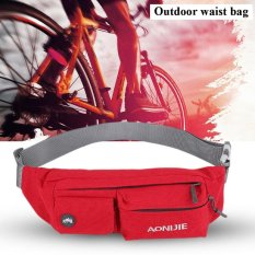 Outdoor Fashionable Waterproof Nylon Adjustable Belt Waist Pouch Bag (red) - Intl By Highfly.