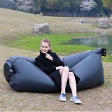 Compare Prices For Outdoor Inflatable Lazy Air Bed Compression Air Bag Sofa Bed Black