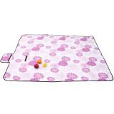 Promo Outdoor Picnic Blanket Mat Pad Waterproof Fleece Rug Travel Camping Pet Garden