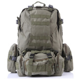 Purchase Outdoor Sport Tactical Military Backpack For Hiking Camping With 3 Molle Bags Army Green Online