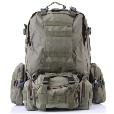 Get Cheap Outdoor Sport Tactical Military Backpack For Hiking Camping With 3 Molle Bags Army Green