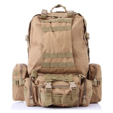 Discount Outdoor Sport Tactical Military Backpack For Hiking Camping With 3 Molle Bags Khaki Oem China