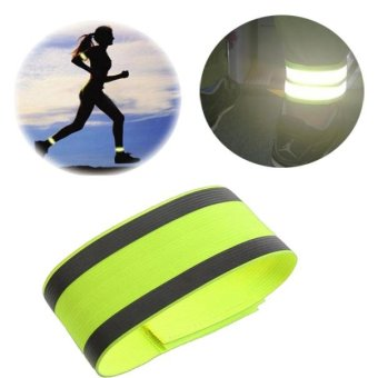 Outdoor Sports Bicycle Night Running Safety Reflective Arm Band Belt Strap