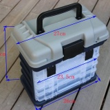 Lowest Price Outdoor Sports Fishing Box Multifunction Fishing Tackle Box Rack System Intl