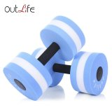 Outlife 2Pcs Fitness Pool Exercise Eva Aquatics Dumbbell Blue Intl Shopping