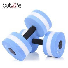 For Sale Outlife 2Pcs Fitness Pool Exercise Eva Aquatics Dumbbell Blue Intl