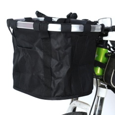 Palight Folding Removable Handlebar Metal Aluminum Frame Bicycle Basket - Intl By Palight.