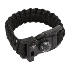 Paracord 6 In1 Survival Bracelet Rope Compass Flint Scraper Whistle Thermom - Intl By Crystalawaking.