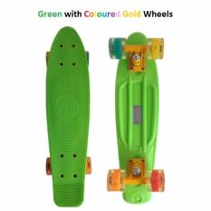 Penny Style Board Skateboard 22 Inch Green With Illuminating Wheels Penny Board Skateboard 22 Inch Pink With White Wheels Scooter Electric Scooter Kick Scooter Skate Scooter Kids Children *D*Lt Genconnect Pte Ltd Discount