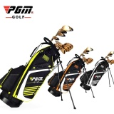Discount Pgm Golf Bag With Stand Portable Stand Bag 14 Sockets Multi Pockets Golf Standard Bag With Shouder Strap 90 28Cm 3 Colors Intl Oem On China