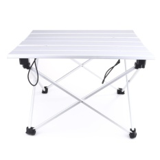 Portable Aluminum Rolling Table Folding Camping Outdoor Travelling Indoor (small) - Intl By Crystalawaking.