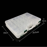 Buy Portable Double Sided Plastic Lure Box With Adjustable Dividers High Capacity Fishing Tackle Container Color Transparent White Size Transparent White Intl Online China