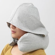 Portable Travel Hooded Neck Pillow U Shaped Neck Support For Car And Airplane Gift For Men And Women Intl Coupon