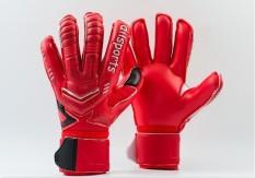 Professional Goalkeeper Gloves Finger Protection Thickened Latex Soccer Football Goalie Gloves Goal Keeper Gloves(red) - Intl.