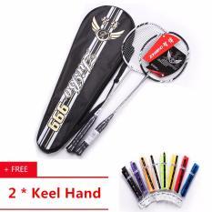 Professional High Carbon Fiber Couple Badminton Racquet 2 Pcs With Bag Cheap