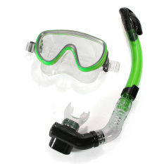Buy Pvc Swimming Scuba Anti Fog Goggles Mask Dive Diving Glasses W Dry Snorkel Set