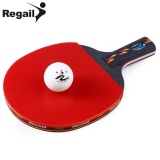 For Sale Regail D003 Table Tennis Ping Pong Racket One Short Handle Paddle Bat With Ball Penhold Intl