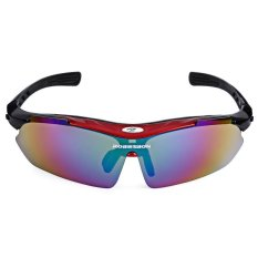 Robesbon 0089 Men Cycling Sunglass With Hd Tac Polarizer Lens Red And Black Cheap
