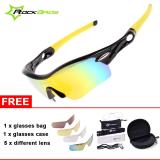 Sale Rockbros Pro Polarized Cycling Glasses Bike Sports Sunglasses 5 Lens Goggles Hong Kong Sar China Cheap