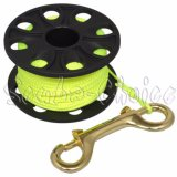 Low Price Scuba Choice Diving Compact Finger Spool 167Ft 50M Dive Reel Yellow Line Intl