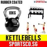 Sale Sportsco 10Kg Rubber Coated Kettlebell Sg Singapore