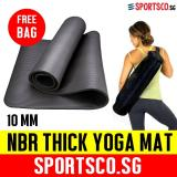 Great Deal Sportsco 10Mm Nbr Thick Yoga Exercise Mat Black