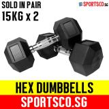 Get Cheap Sportsco 15Kg Hex Dumbbell Sold In Pair Sg
