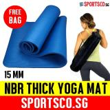 Purchase Sportsco 15Mm Nbr Thick Yoga Exercise Mat Blue
