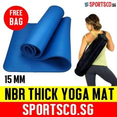 Sportsco 15Mm Nbr Thick Yoga Exercise Mat Blue Coupon Code