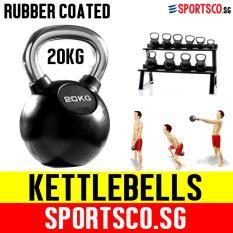 Deals For Sportsco 20Kg Rubber Coated Kettlebell Sg