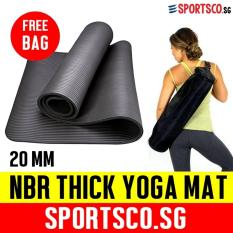 Low Price Sportsco 20Mm Nbr Extra Thick Yoga Exercise Mat Black