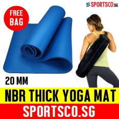 Discount Sportsco 20Mm Nbr Extra Thick Yoga Exercise Mat Blue Sportsco