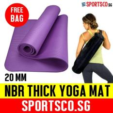 Sale Sportsco 20Mm Nbr Extra Thick Yoga Exercise Mat Purple Sportsco Cheap