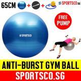 Sportsco 65Cm Anti Burst Yoga Gym Ball With Free Pump Sg Sportsco Cheap On Singapore