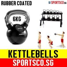 Sportsco 6Kg Rubber Coated Kettlebell Sg Shop