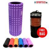 Sportsco Flexi Grid Foam Roller Purple With Black Inner Core Sg Sportsco Cheap On Singapore