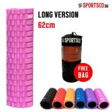 Retail Price Sportsco Long Version Eva Foam Roller 62Cm Pink With Black Inner Core Sg
