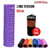 Sportsco Long Version Eva Foam Roller 62Cm Purple With Black Inner Core Sg Compare Prices