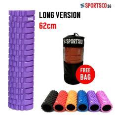 Sportsco Long Version Eva Foam Roller 62Cm Purple With Black Inner Core Sg Coupon Code