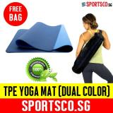 Sportsco Premium Tpe Yoga Exercise Mat Dual Color Blue Dark Blue Sg Free Shipping