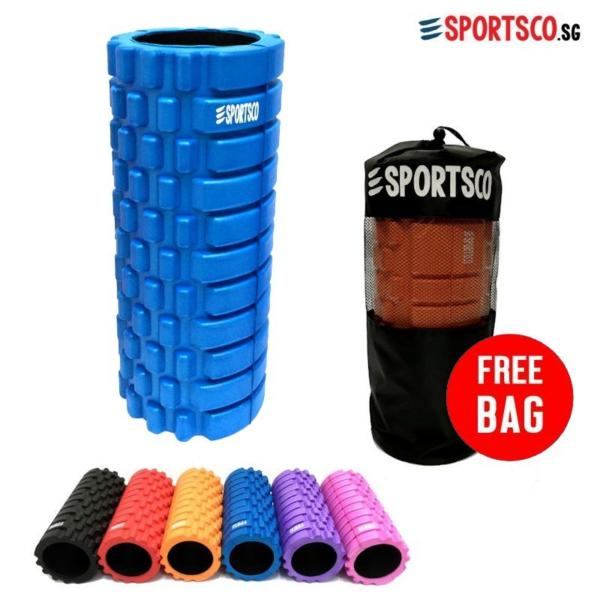 SPORTSCO Standard EVA Foam Roller (Blue with Black Inner Core) (SG)