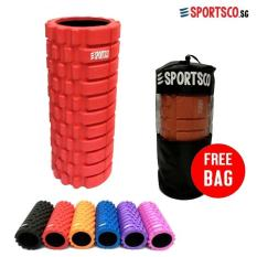 SPORTSCO Standard EVA Foam Roller (Red with Black Inner Core) (SG)