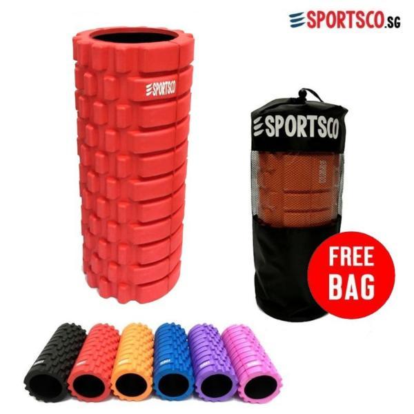 SPORTSCO Standard EVA Foam Roller (Red with Black Inner Core) (SG)